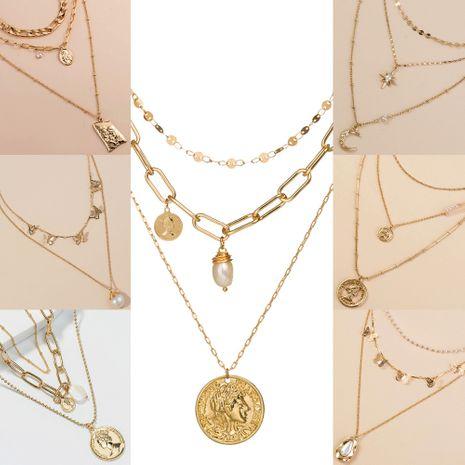 collier de mode multicouche de perles papillon NHAN243127's discount tags