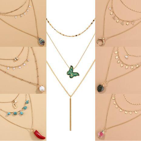 Collier à pendentif papillon à pompon bohème NHAN243129's discount tags