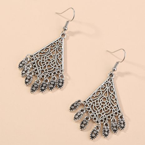 hot-selling retro simple clan style characteristic hollow pattern diamond earrings wholesale nihaojewelry NHAN243146's discount tags