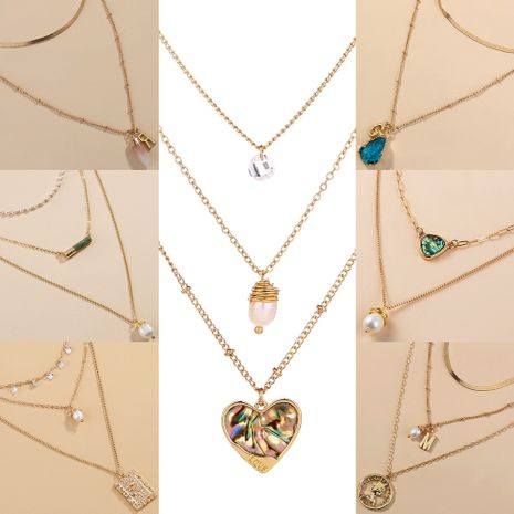 fashion  multi-layer display necklace retro chain choker  NHAN243162's discount tags
