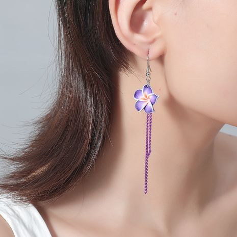 New retro ethnic style long fringed flower simple earrings NHKQ243176's discount tags