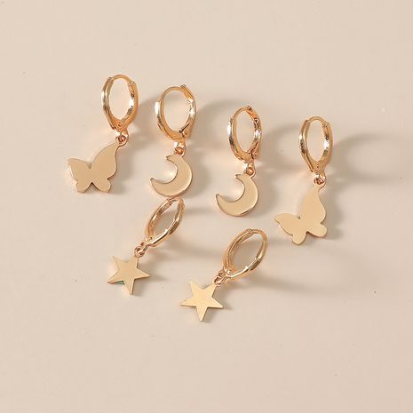 niche moon star Korean simple fashion wild earrings NHKQ243178's discount tags