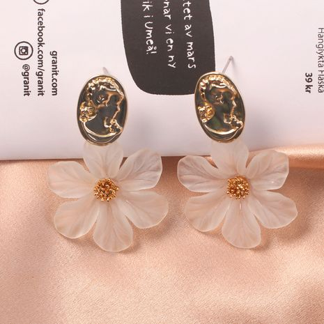 Korean fashion fairy fresh flower simple and elegant wild head pendant flower earrings NHKQ243187's discount tags