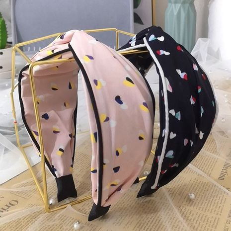 New Korean style fabric wide-brimmed cross-knotted floral fashion hairband wholesale nihaojewerly NHRH243195's discount tags