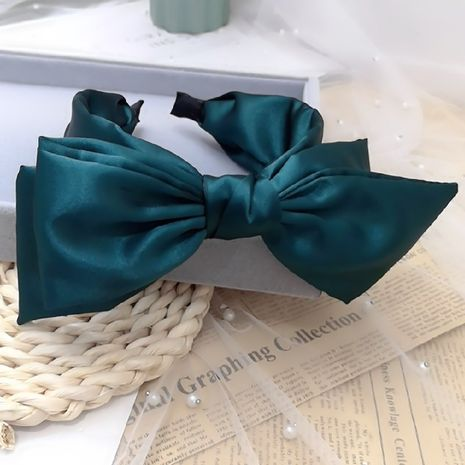 hot style Korean big bow bright silk wide-sided trendy headband wholesale nihaojewerly NHRH243200's discount tags