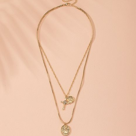 Fashion new diamond multi-layer alloy simple street trend necklace wholesale  NHAI243205's discount tags