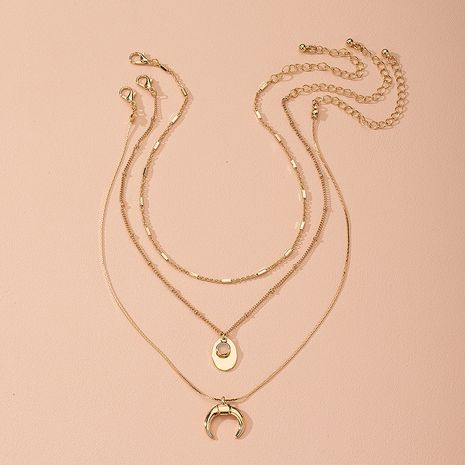 Korea's new chain fashion retro niche cool alloy clavicle chain wholesale NHAI243207's discount tags