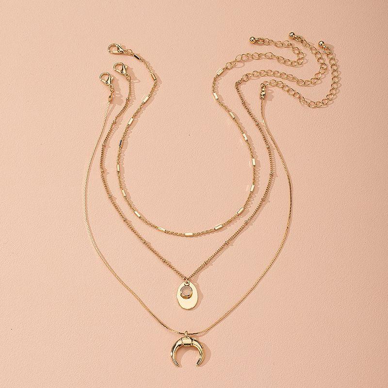 Korea's new chain fashion retro niche cool alloy clavicle chain wholesale NHAI243207