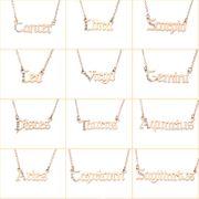 jewelry twelve constellation necklace letter pendant wholesale nihaojewelry NHNZ236507