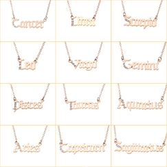 jewelry twelve constellation necklace letter pendant wholesale nihaojewelry NHNZ236507