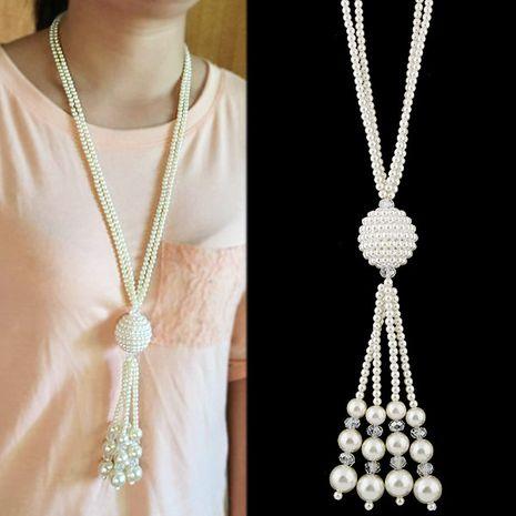 Collier en alliage de perles polyvalent de haute qualité tendance tendance NHSC243301's discount tags