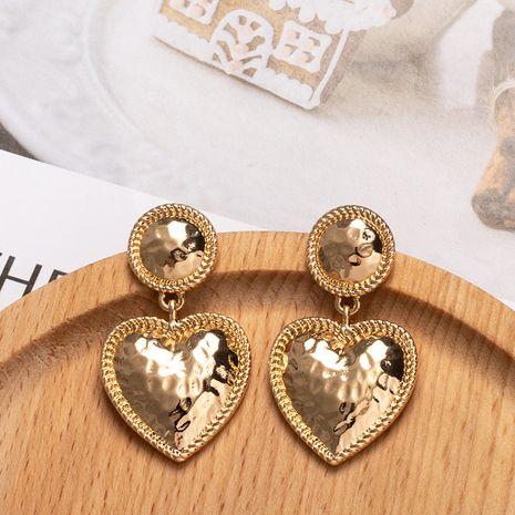 fashion exaggerated metal  simple geometric heart-shaped earrings wholesale nihaojewelry NHAI243214's discount tags