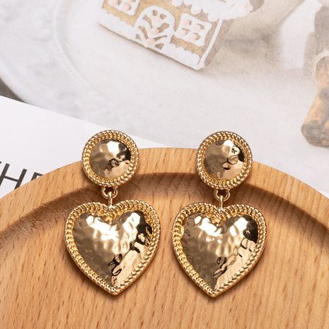 fashion exaggerated metal  simple geometric heart-shaped earrings wholesale nihaojewelry NHAI243214's discount tags