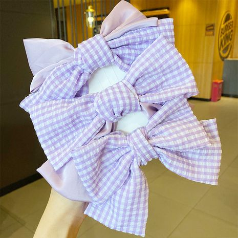 Korean romantic taro purple bow hairpin  NHNA243233's discount tags