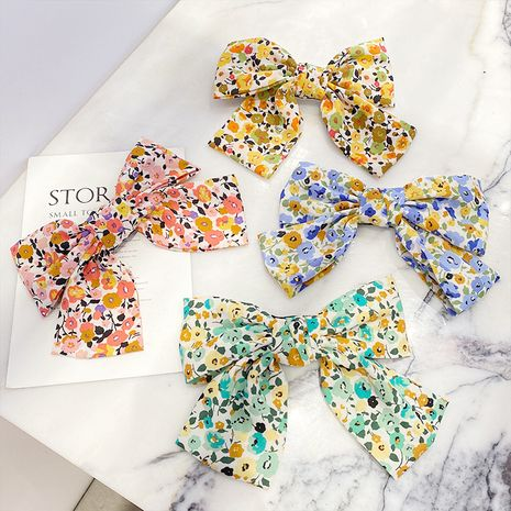 Chiffon floral   big bow hairpin   wholesale  NHNA243236's discount tags