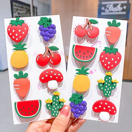 Cartoon fruit posting cute girls hair bangs stickers wholesale nihaojewerly NHNA243238's discount tags