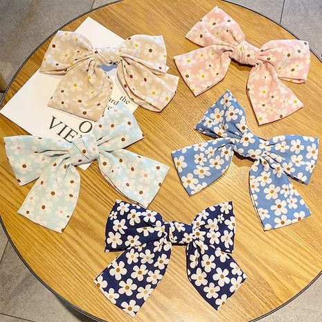 Korean big bow   daisy chiffon hairpin wholesale NHNA243241's discount tags