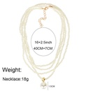 Fashion multilayer pearl retro wild sweater chain item jewelry necklace for women NHCT243251