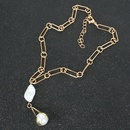 Simple fashion trend specialshaped pearl pendant necklace for women NHCT243254