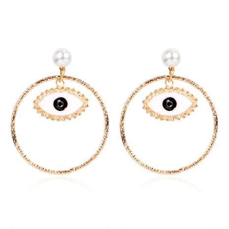 Boucle d'oreille ronde en alliage de style de la mode coréenne en gros nihaojewerly NHCT243260's discount tags