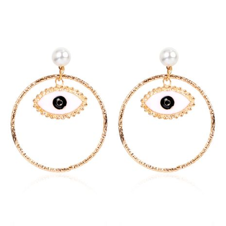 Korean fashion style alloy dripping eyes round earrings wholesale nihaojewerly NHCT243260's discount tags