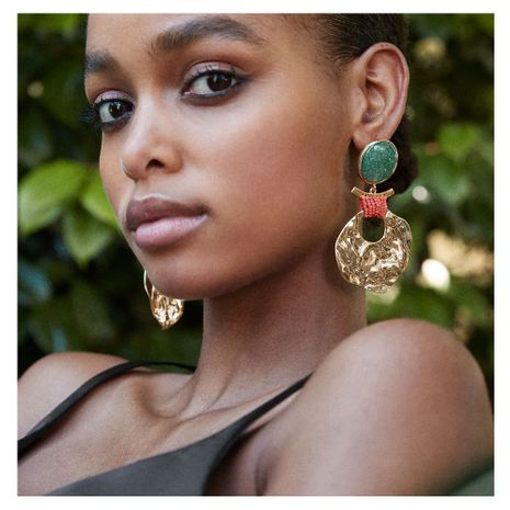 exaggerated earrings geometric retro alloy handmade creative earrings wholesale nihaojewerly NHCT243261's discount tags