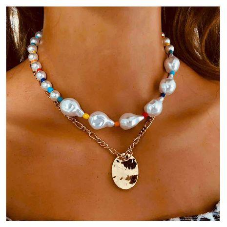 collier pendentif en métal simple perle de forme spéciale pour les femmes NHCT243263's discount tags