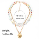 fashion specialshaped pearl simple metal pendant necklace for women NHCT243263