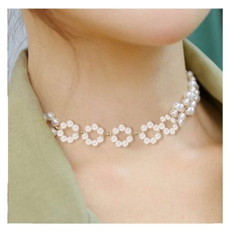Bohemian style pearl simple choker necklace for women wholesale NHCT243267's discount tags