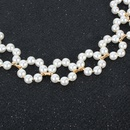Bohemian style pearl simple choker necklace for women wholesale NHCT243267