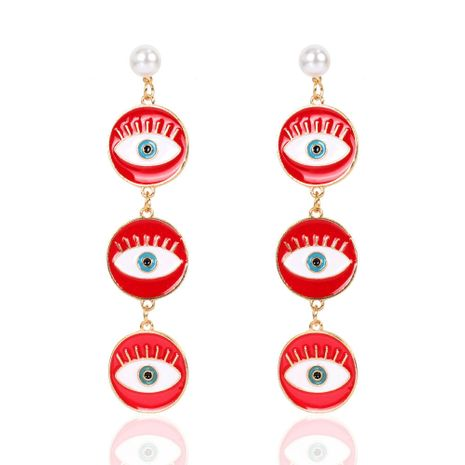 retro alloy geometric round eye earrings bohemian style earrings wholesale nihaojewerly NHCT243273's discount tags