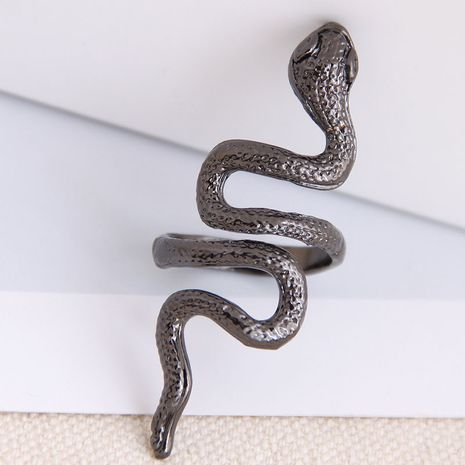 fashion metal auspicious snake alloy exaggerated opening ring wholesale NHSC243293's discount tags