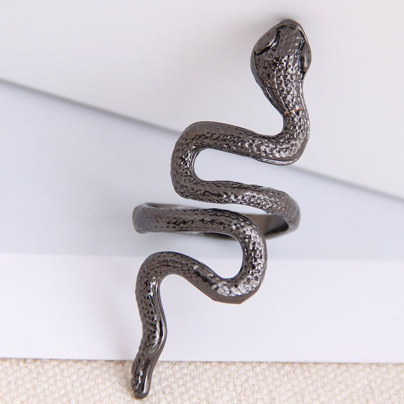 fashion metal auspicious snake alloy exaggerated opening ring wholesale NHSC243293