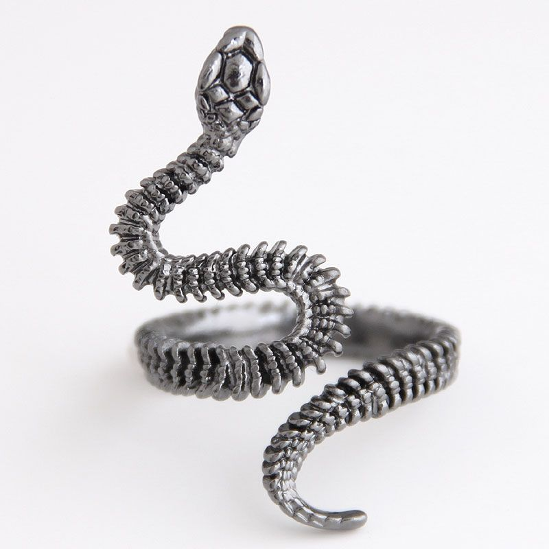 fashion metal auspicious snake personality exaggerated opening ring NHSC243292