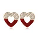 925 Silver Needle Korean Fashion Sweet Allmatch Flash Diamond Love alloy Stud Earrings NHSC243289