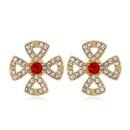 925 Silver Needle Korean Fashion Sweet Wild Flower Stud Earrings NHSC243287