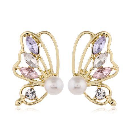 Aiguille en argent 925 mode coréenne boucles d'oreilles en alliage de papillon simple sauvage doux pour femmes NHSC243282's discount tags