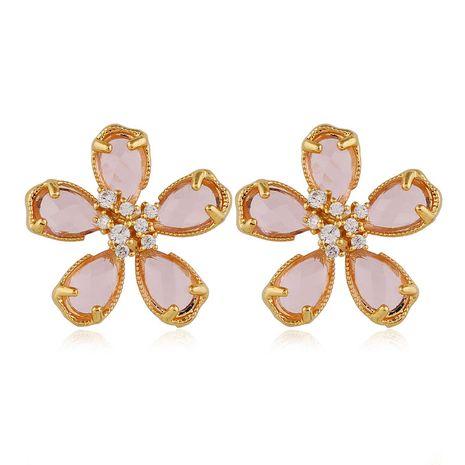 Boucles d'oreilles en alliage de fleur de cristal doux de mode coréenne d'aiguille en argent 925 NHSC243281's discount tags