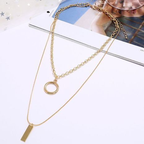 Exquisite Korean fashion metal simple and versatile double-layer alloy necklace for women NHSC243278's discount tags