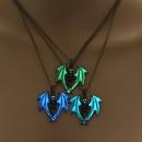 hotselling luminous fashion skull Halloween luminous alloy pendant necklace NHAN243313