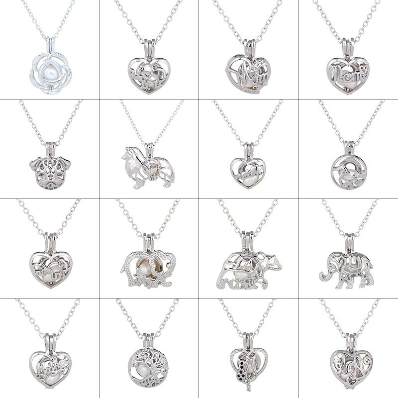 hot-selling pearl series fashion hollow cage pendants Christmas gifts necklaces  NHAN243328