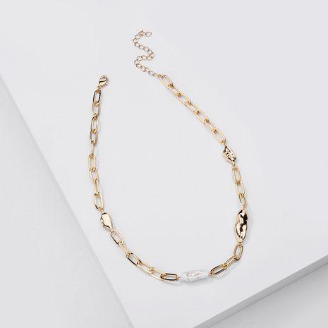 Nouvelle mode simple collier de femmes de perles d'eau douce naturelles en gros NHLU243335's discount tags
