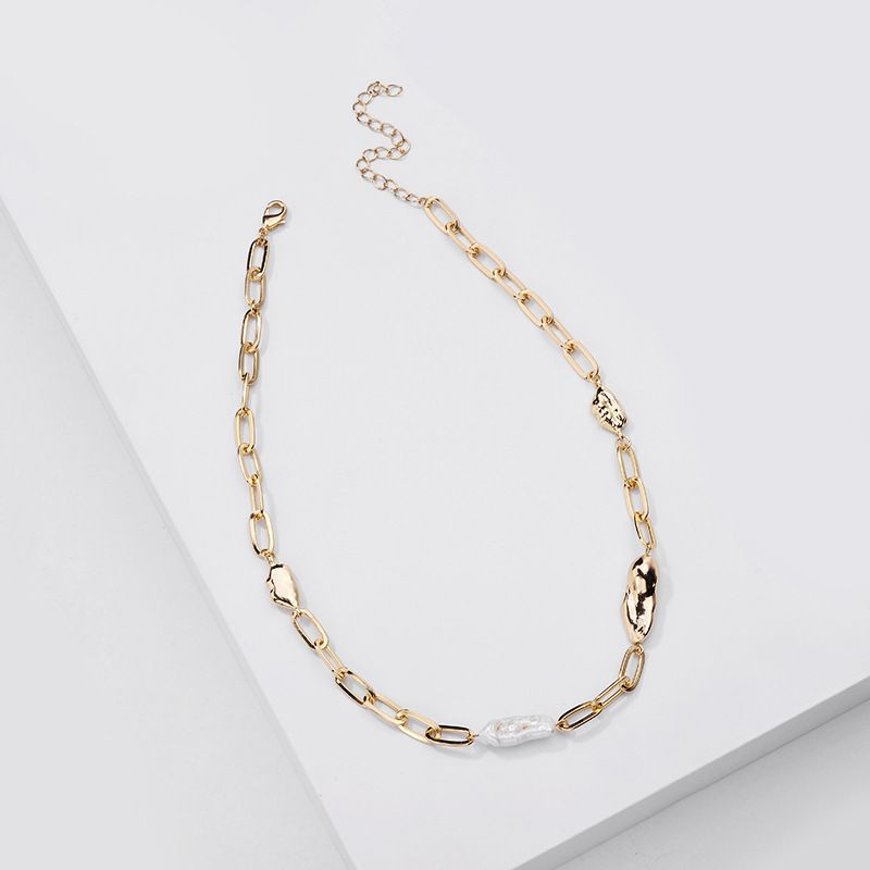 New fashion simple natural freshwater pearl women's necklace wholesale NHLU243335