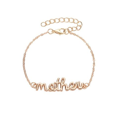 new personality letter mother daughter parent-child alloy bracelet wholesale NHMO243350's discount tags
