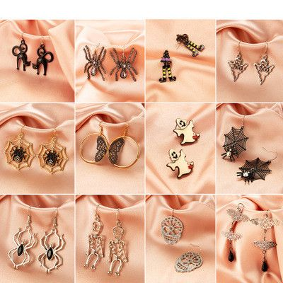 hot sale horror funny Halloween creative ghost spider skull earrings wholesale nihaojewelry NHMO243363's discount tags