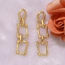 concaveconvex gold geometric round square alloy generous fashion earrings wholesale  NHJQ243376