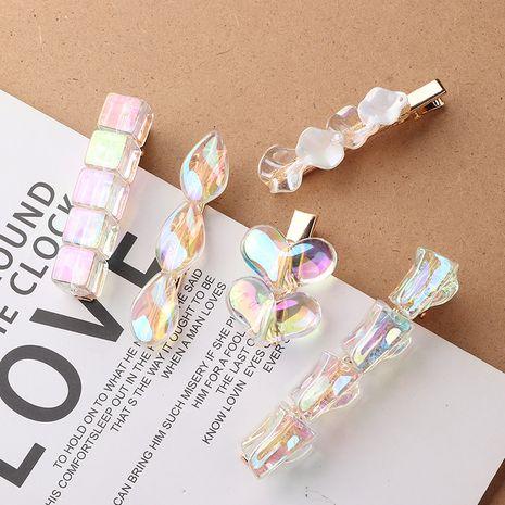 Korean Polarized Colorful Bead Ball One-word Clip  NHNU243378's discount tags