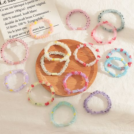 Children's net  yarn fruit hair ring candy color flower hair rope NHNU243380's discount tags