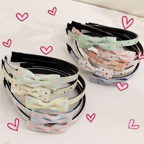 new fashion  chiffon fabric bow tie polka dot  sweet  headband  NHNU243382's discount tags