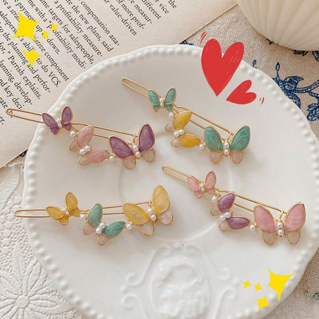 korean fashion new  butterfly hair  clip  NHNU243384's discount tags
